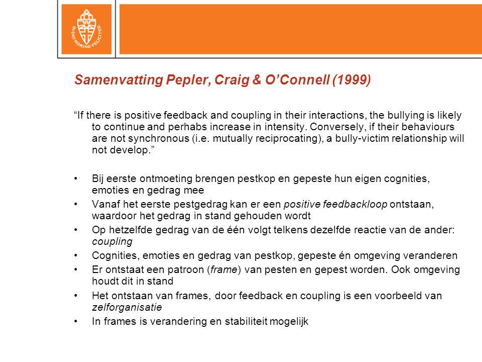 Samenvatting Pepler, Craig & O'Connell (1999)