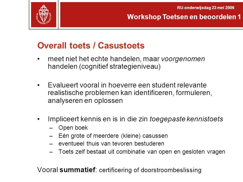 Overall toets / Casustoets