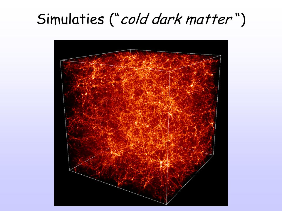 Simulaties ( cold dark matter )