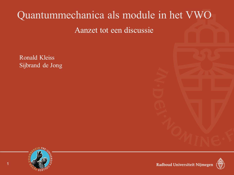 Quantummechanica als module in het VWO