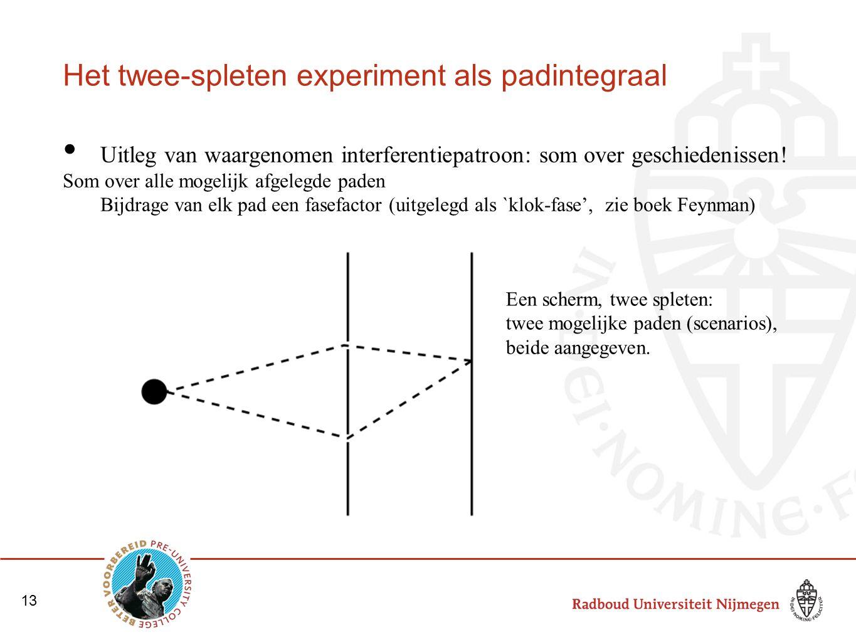 Het twee-spleten experiment als padintegraal