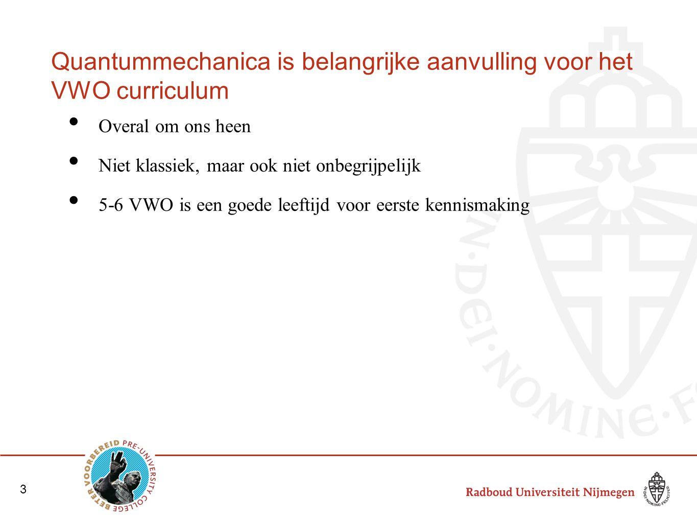 Quantummechanica is belangrijke aanvulling voor het VWO curriculum
