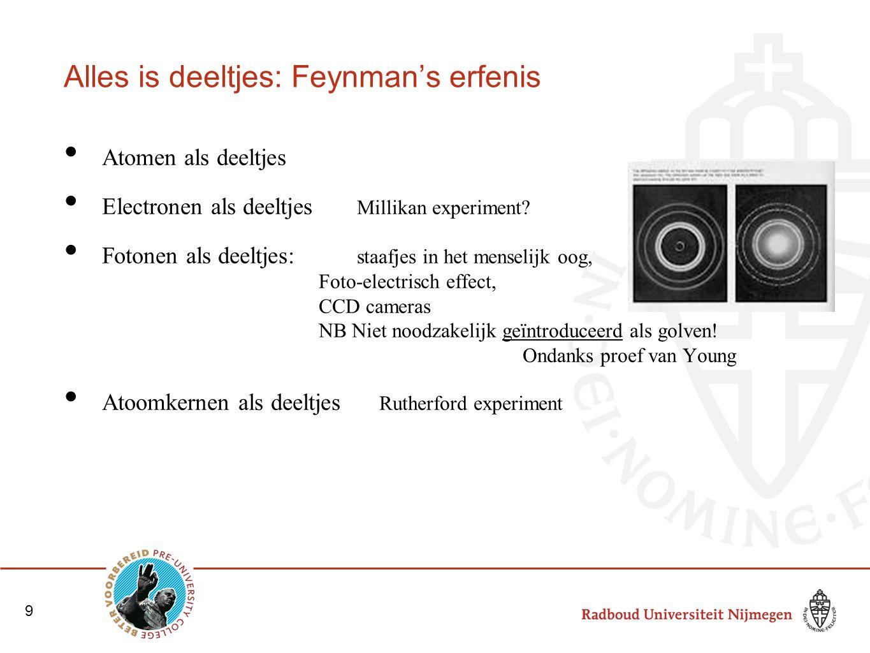 Alles is deeltjes: Feynman's erfenis