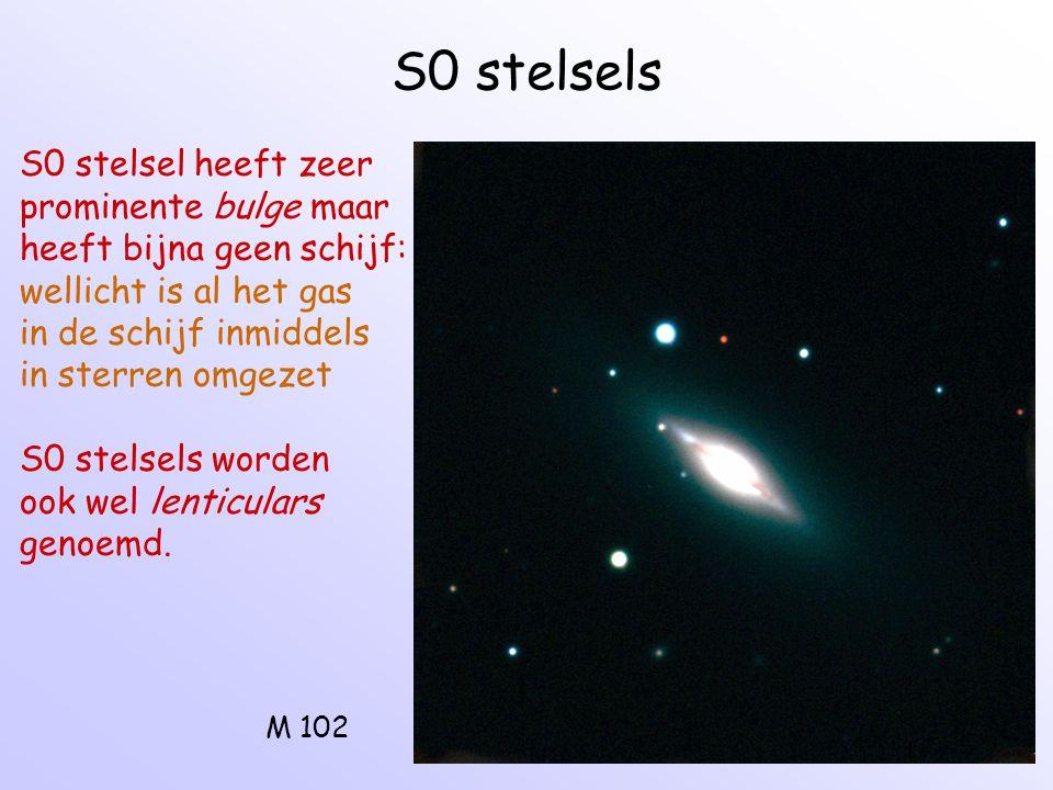 S0 stelsels S0 stelsel heeft zeer prominente bulge maar