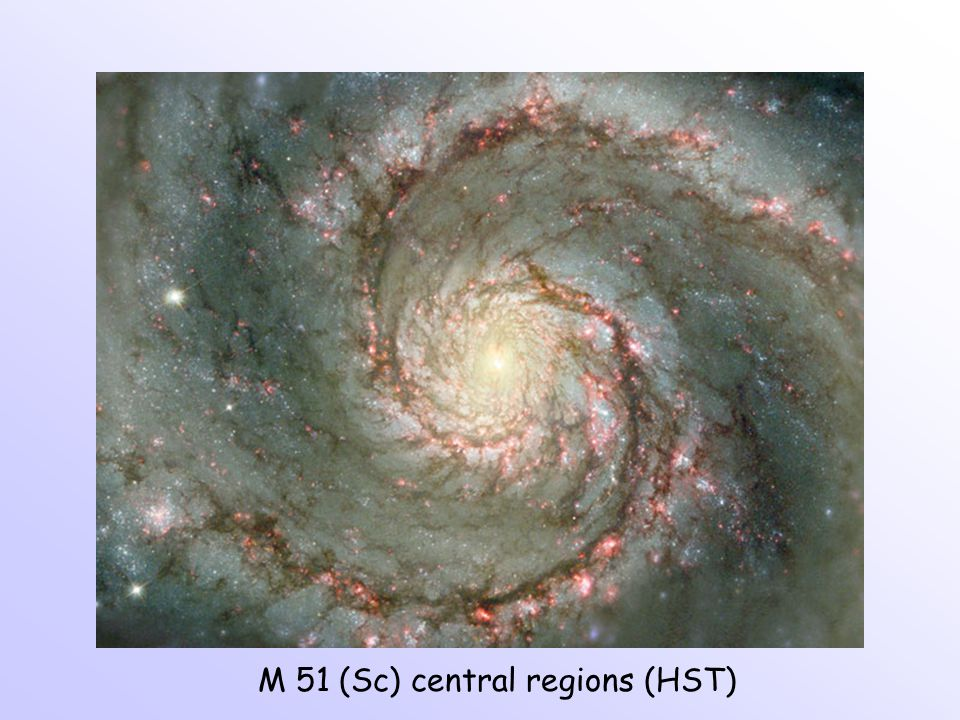 M 51 (Sc) central regions (HST)