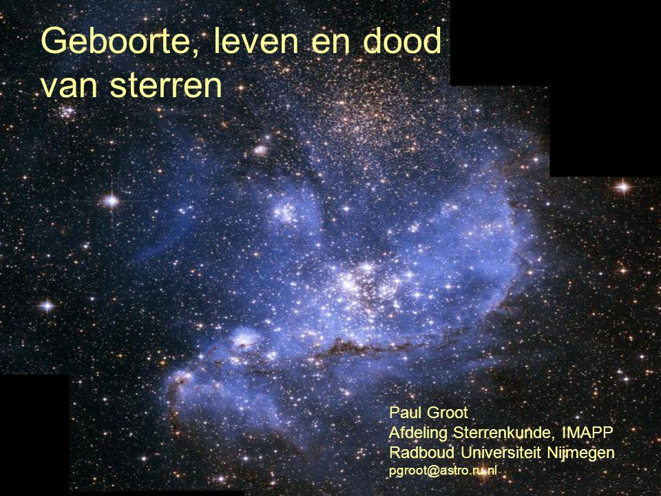 Geboorte, leven en dood van sterren
