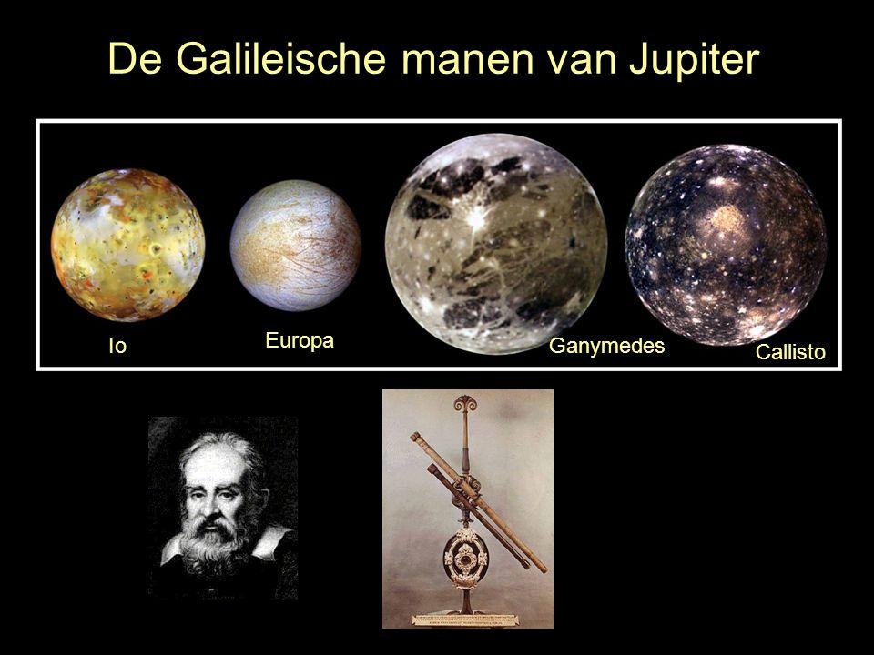 De Galileische manen van Jupiter
