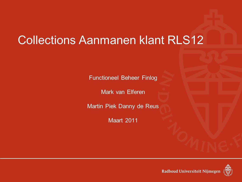 Collections Aanmanen klant RLS12