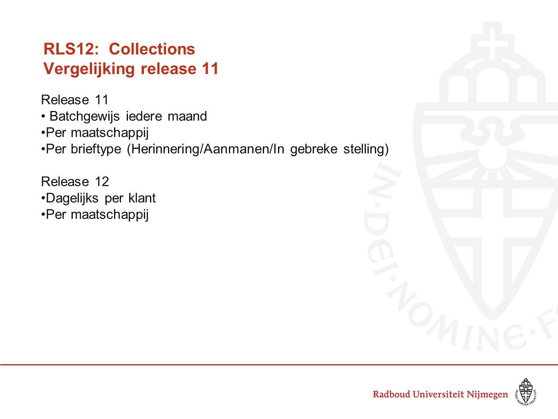 RLS12: Collections Vergelijking release 11