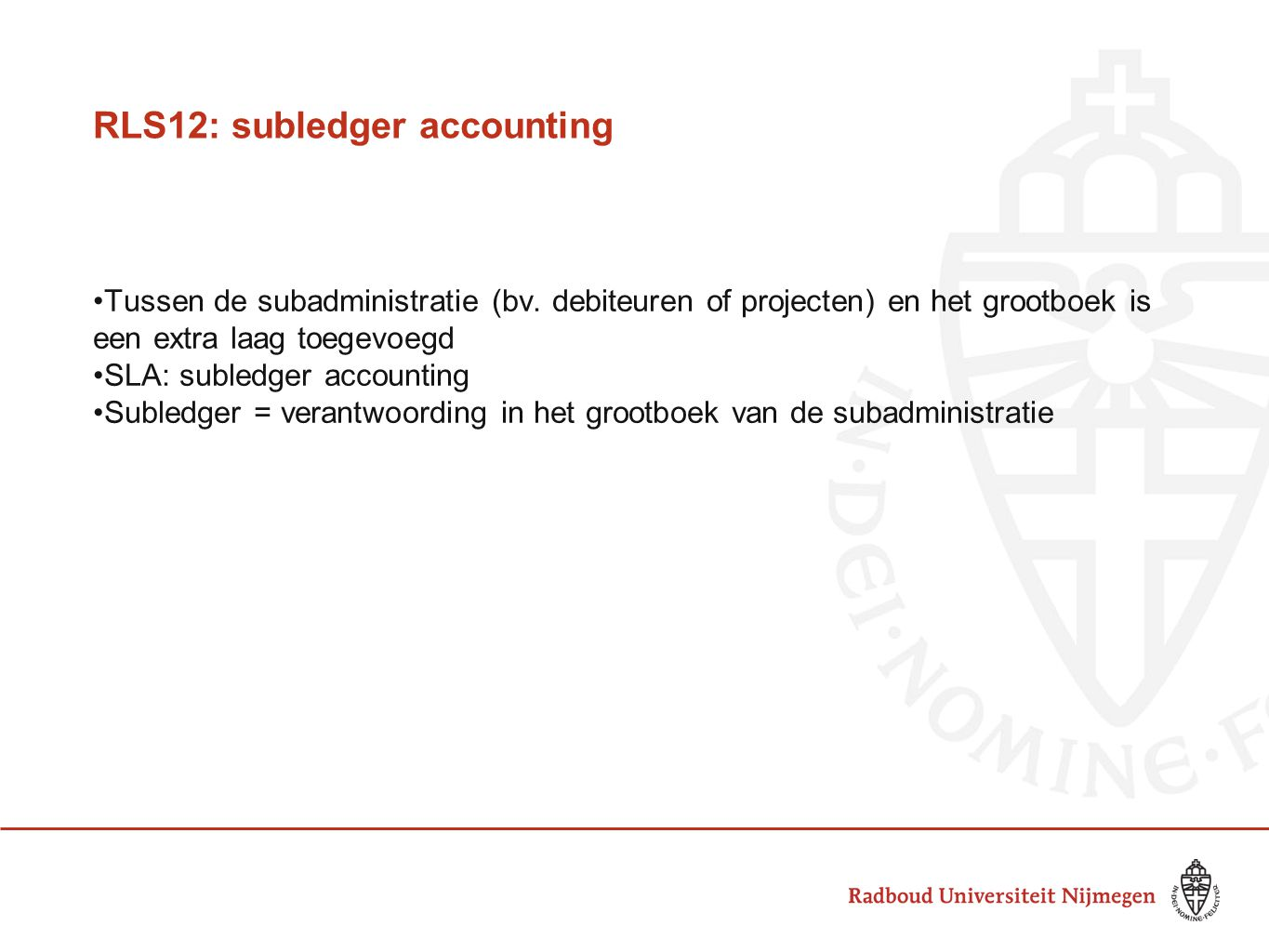 RLS12: subledger accounting