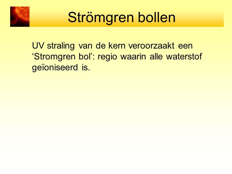Strömgren bollen UV straling van de kern veroorzaakt een