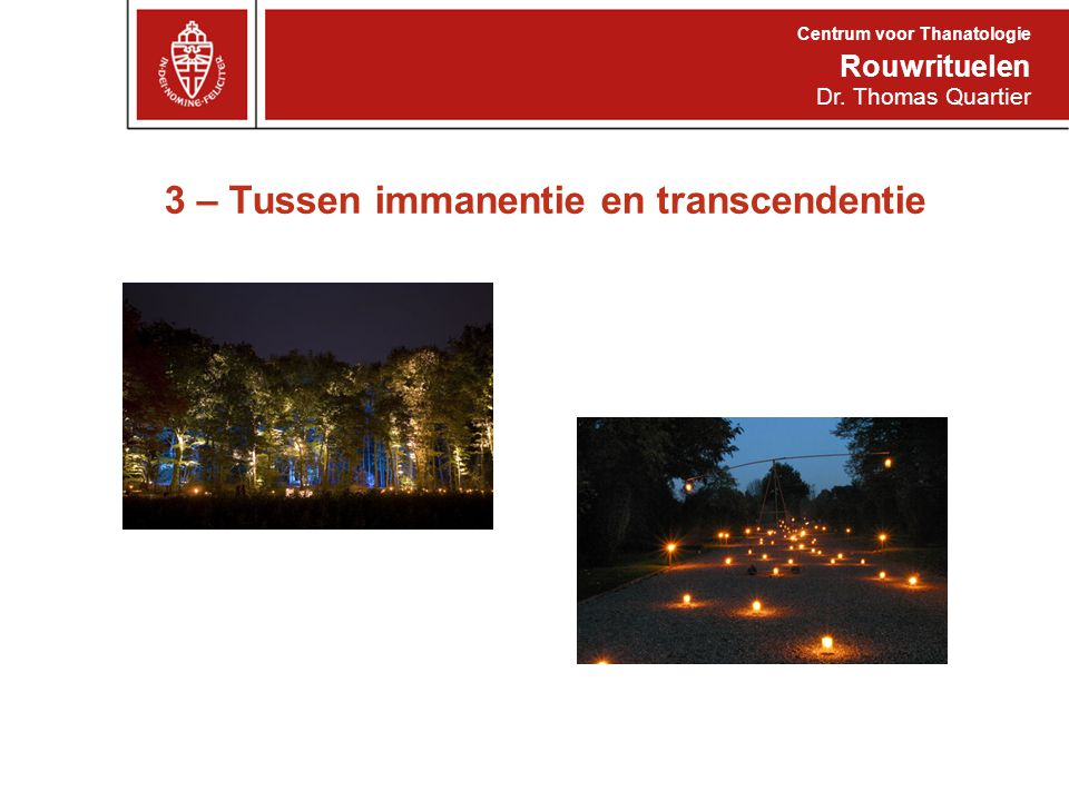 3 – Tussen immanentie en transcendentie