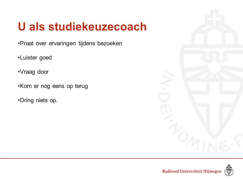 U als studiekeuzecoach