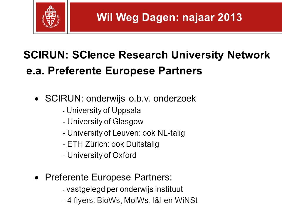 SCIRUN: SCIence Research University Network