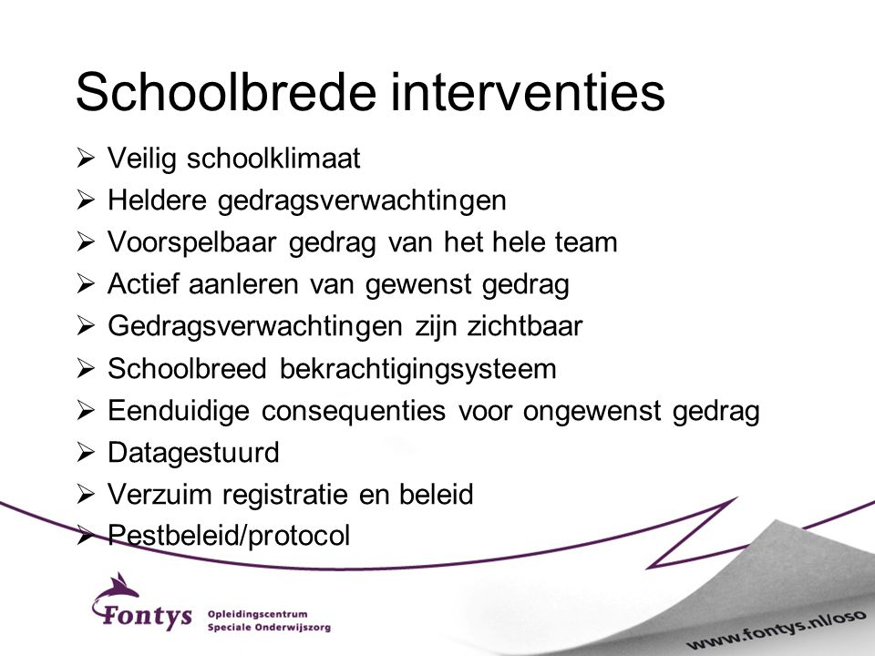 Schoolbrede interventies