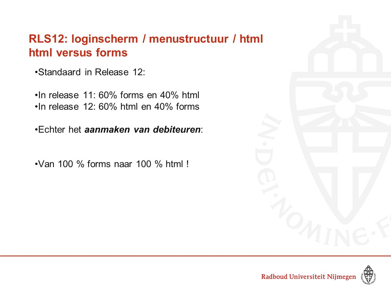 RLS12: loginscherm / menustructuur / html html versus forms