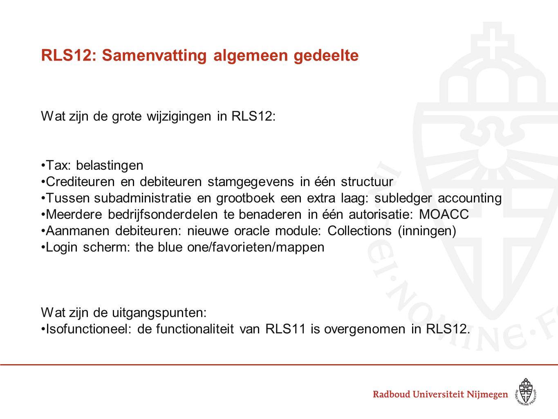 RLS12: Samenvatting algemeen gedeelte