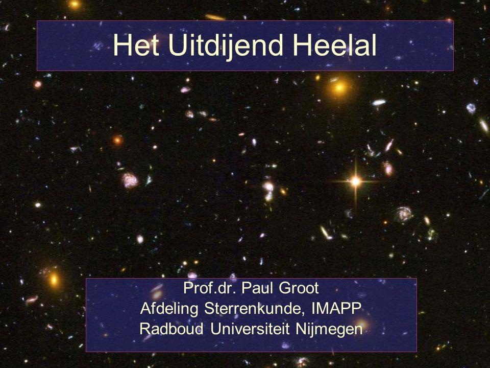 Het Uitdijend Heelal Prof.dr. Paul Groot Afdeling Sterrenkunde, IMAPP