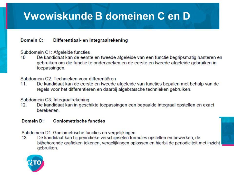 Vwowiskunde B domeinen C en D