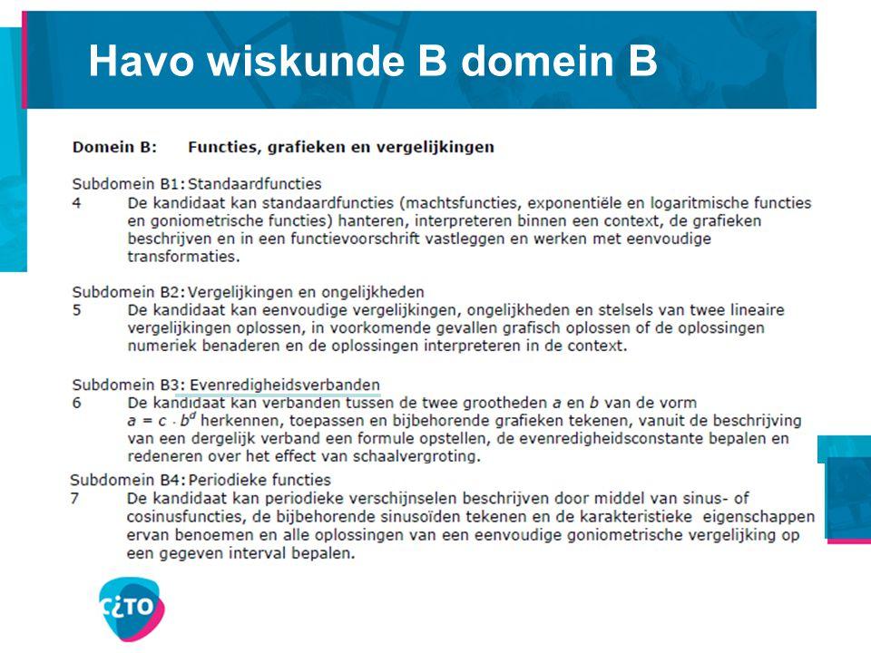 Havo wiskunde B domein B