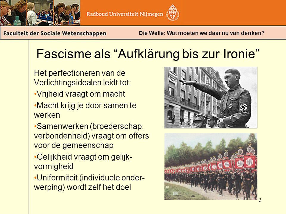 Fascisme als Aufklärung bis zur Ironie