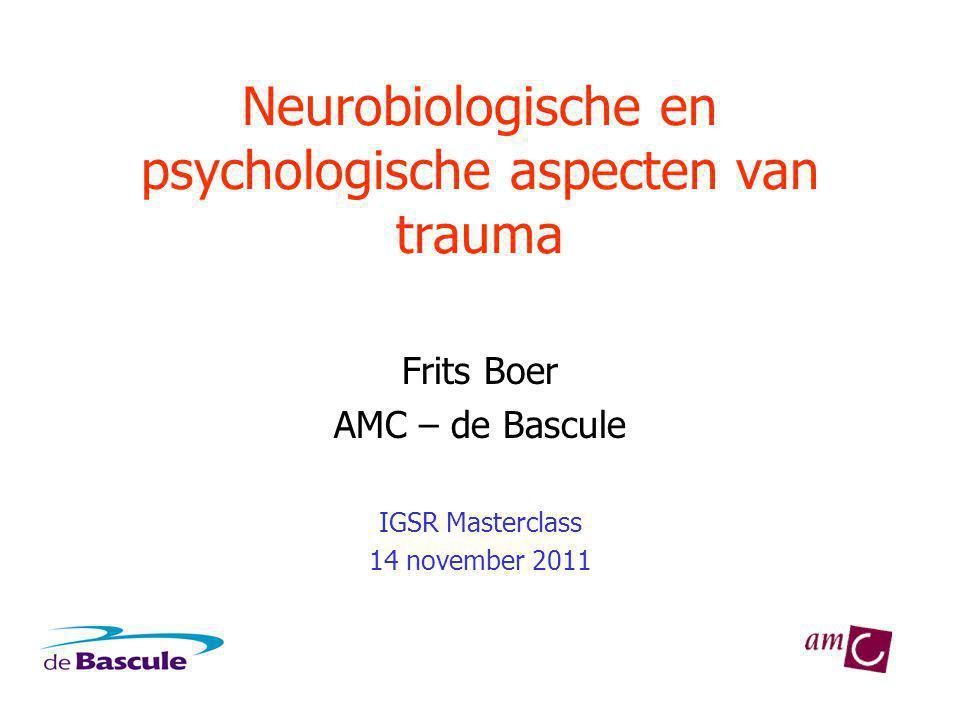 Neurobiologische en psychologische aspecten van trauma