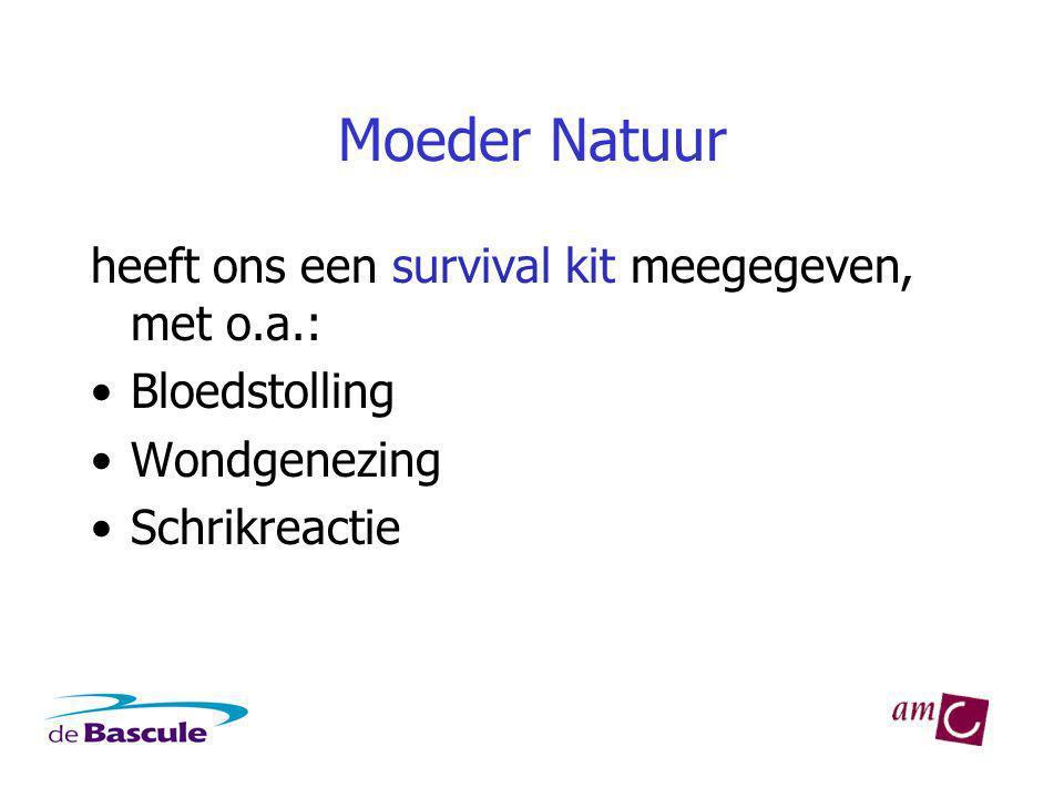Moeder Natuur heeft ons een survival kit meegegeven, met o.a.: