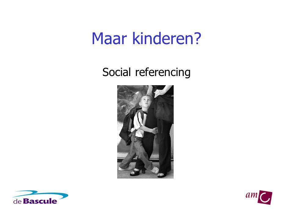Maar kinderen Social referencing