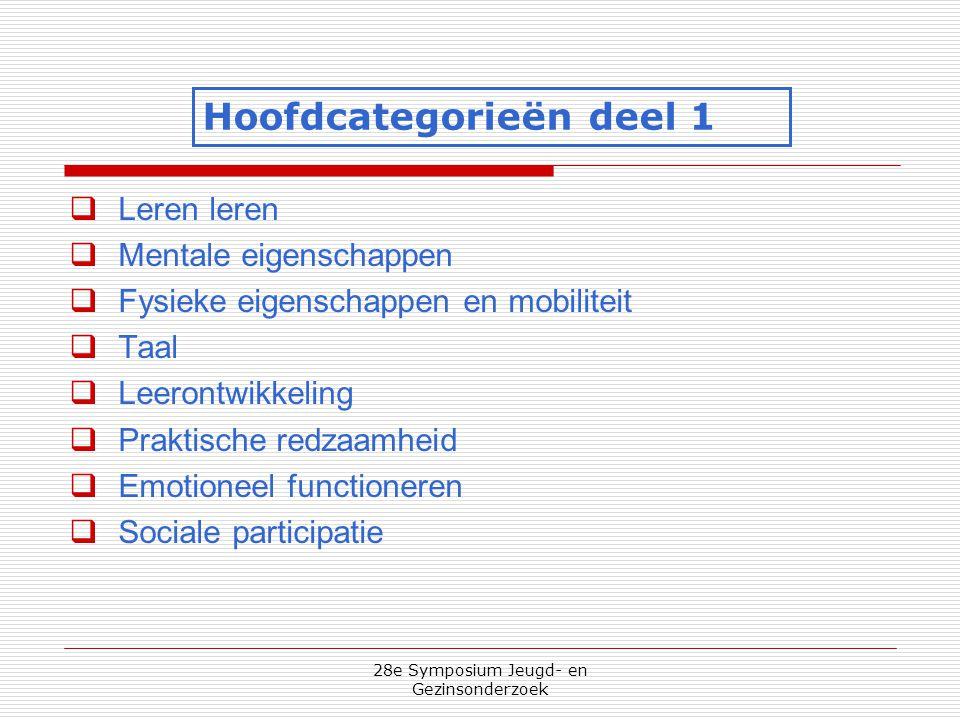28e Symposium Jeugd- en Gezinsonderzoek