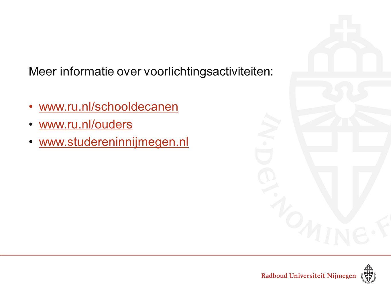 Meer informatie over voorlichtingsactiviteiten:
