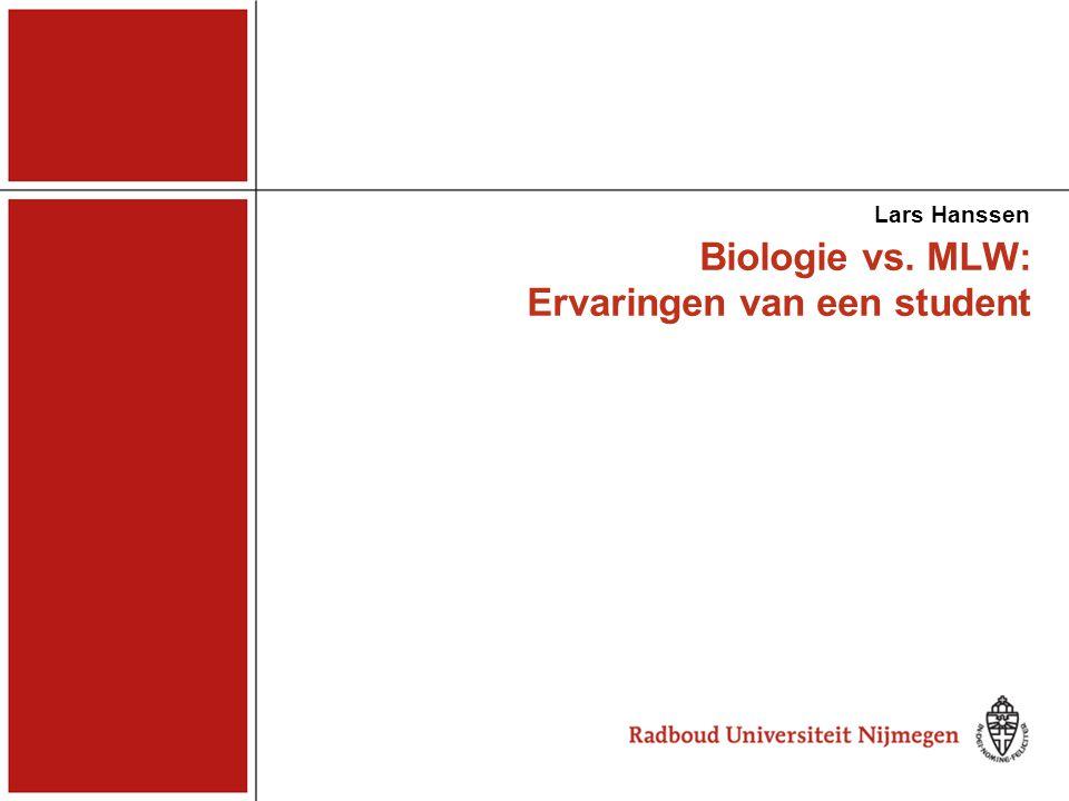 Biologie vs. MLW: Ervaringen van een student