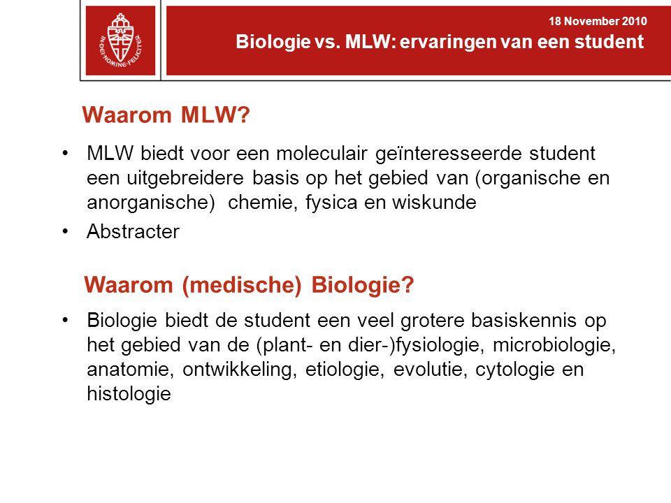 Waarom (medische) Biologie