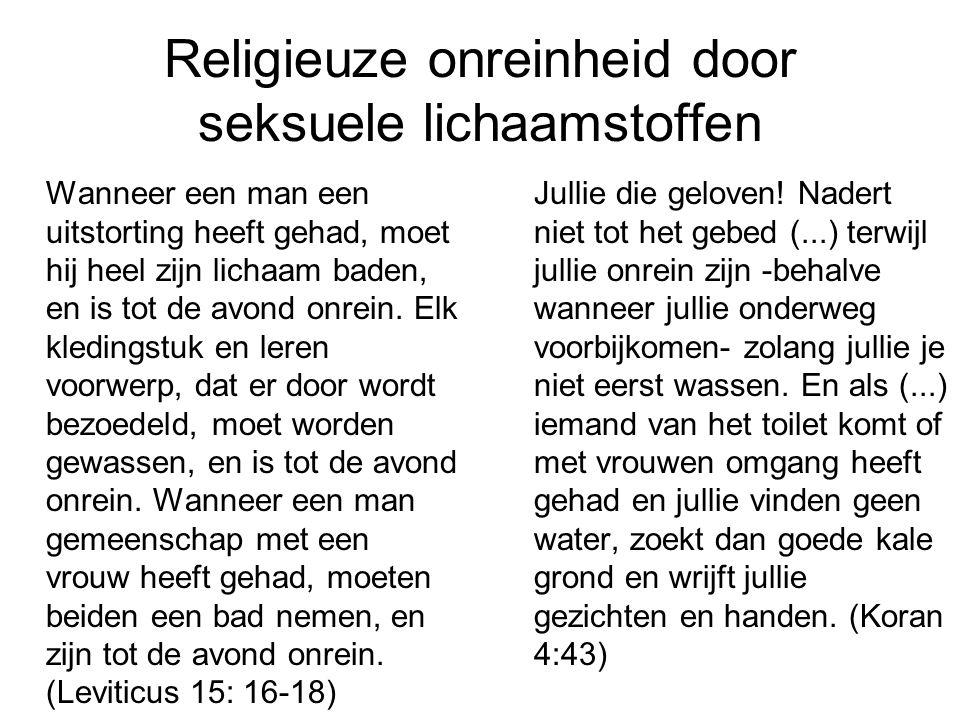 Religieuze onreinheid door seksuele lichaamstoffen