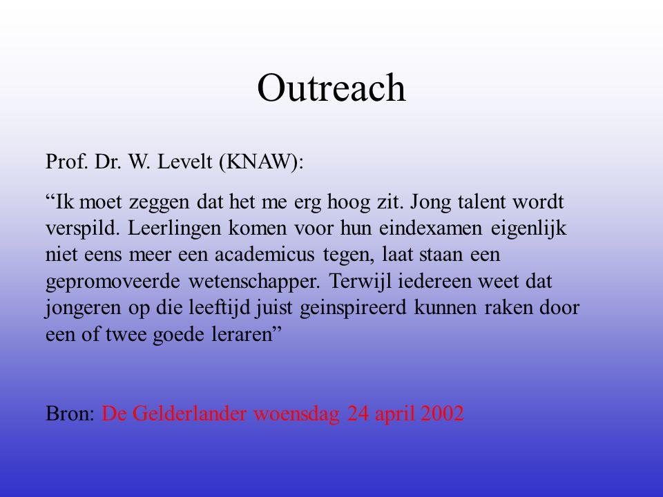 Outreach Prof. Dr. W. Levelt (KNAW):