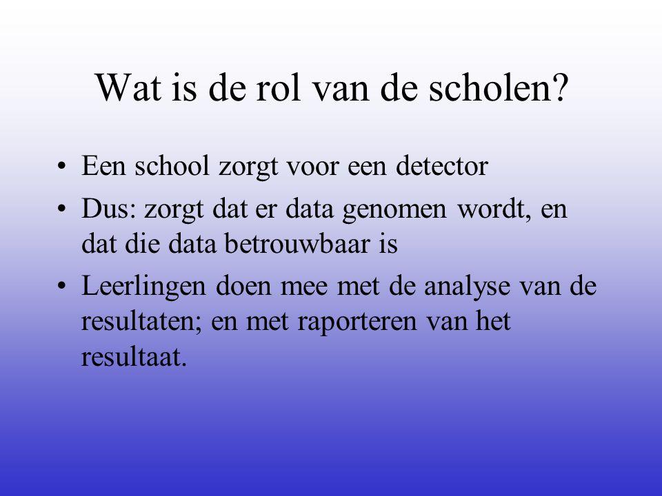Wat is de rol van de scholen