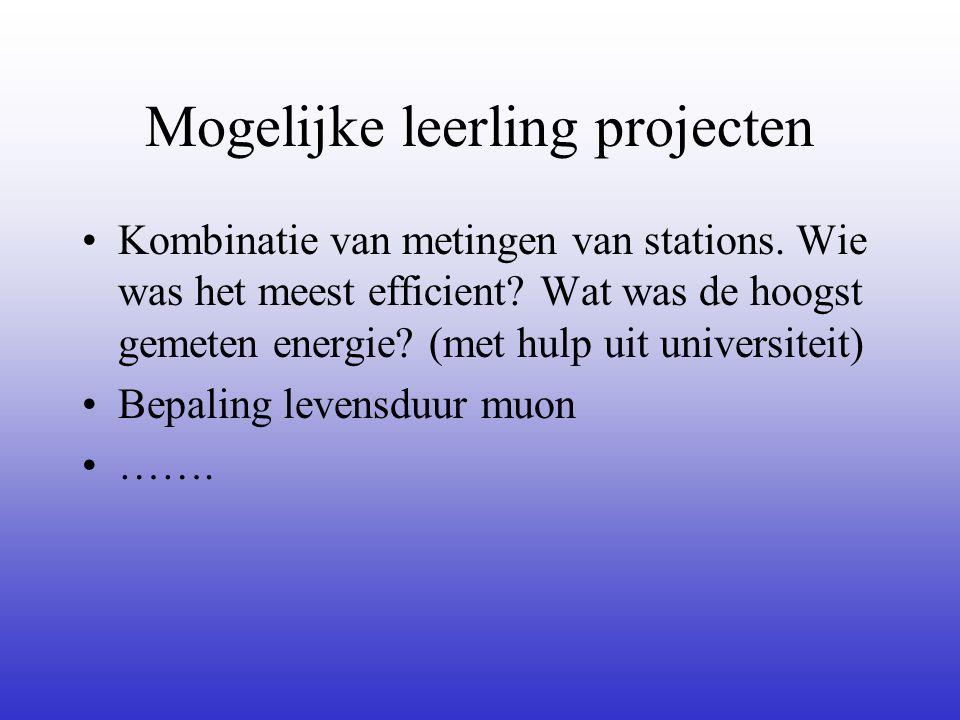 Mogelijke leerling projecten