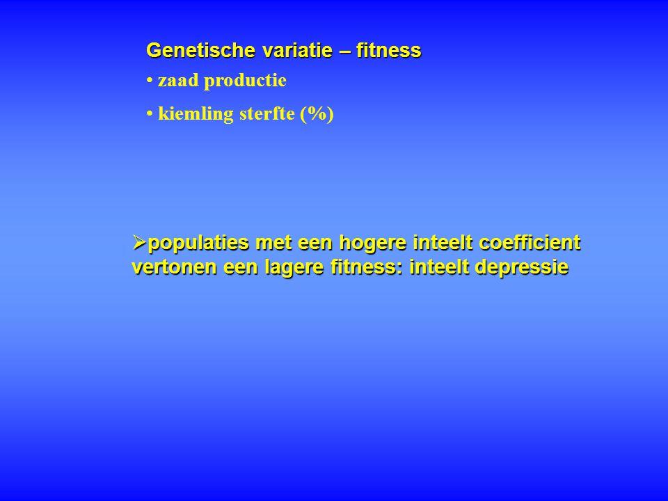 Genetische variatie – fitness