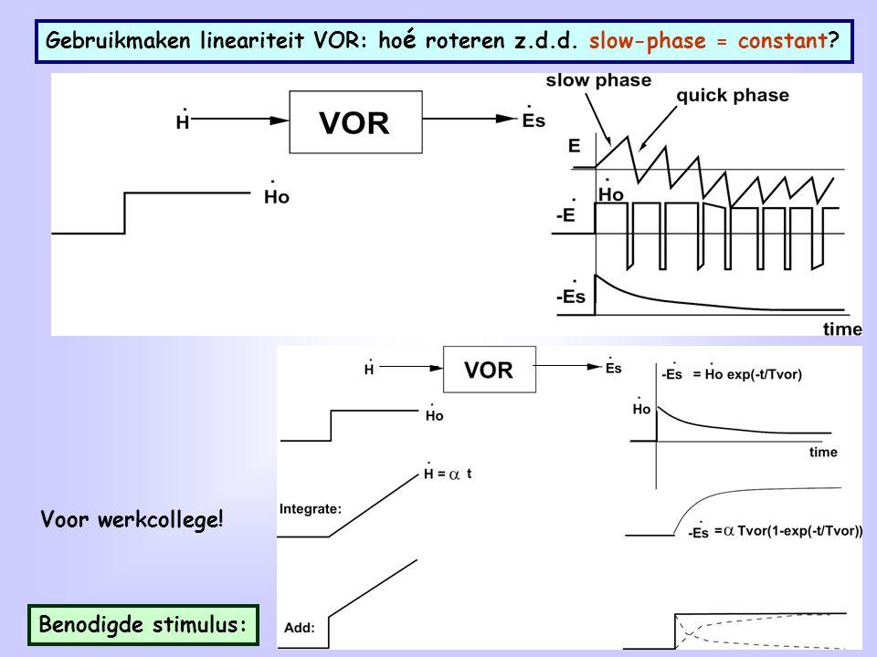 Gebruikmaken lineariteit VOR: hoé roteren z. d. d