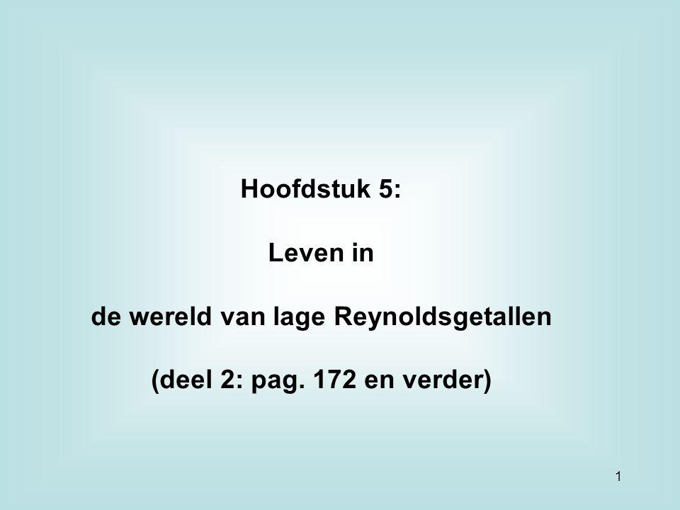 de wereld van lage Reynoldsgetallen