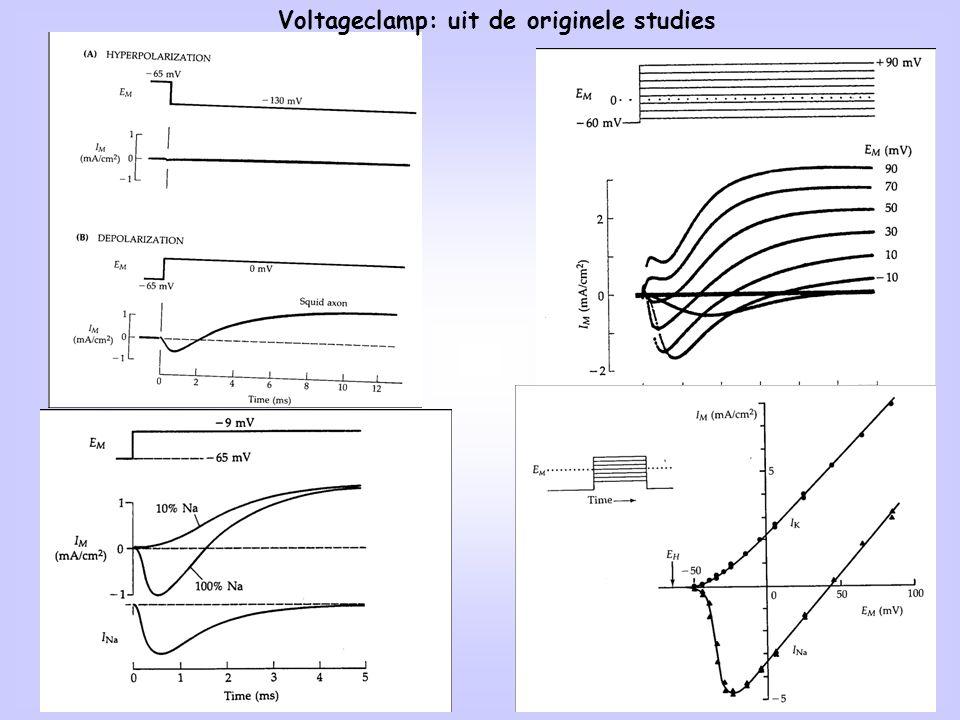 Voltageclamp: uit de originele studies