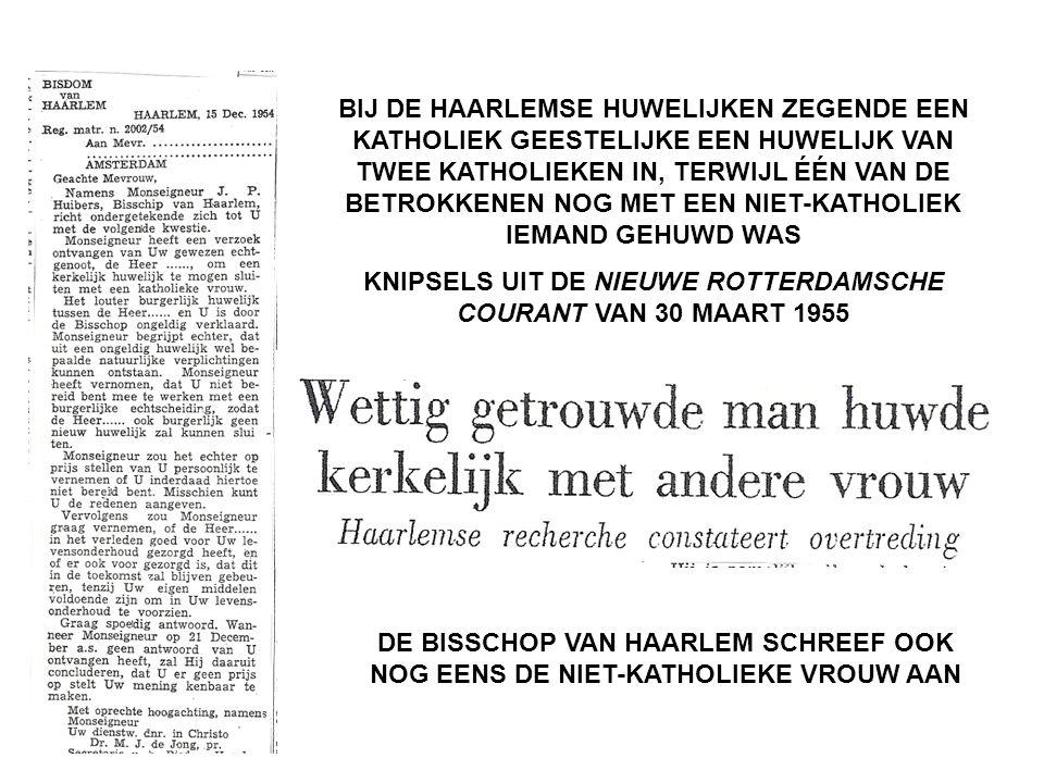 KNIPSELS UIT DE NIEUWE ROTTERDAMSCHE COURANT VAN 30 MAART 1955