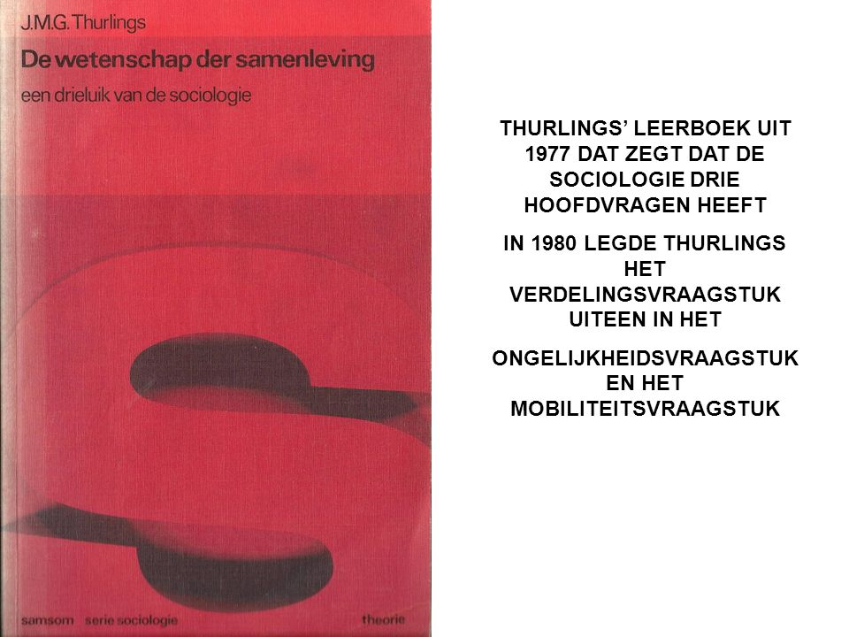 IN 1980 LEGDE THURLINGS HET VERDELINGSVRAAGSTUK UITEEN IN HET