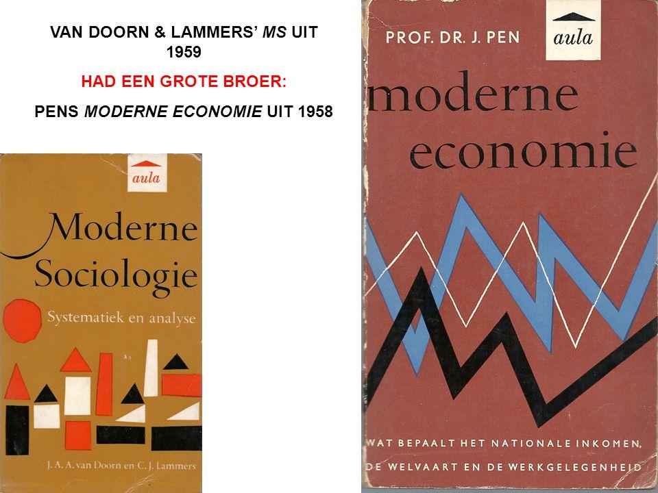 VAN DOORN & LAMMERS' MS UIT 1959 PENS MODERNE ECONOMIE UIT 1958