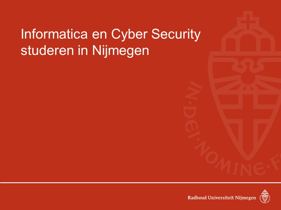 Informatica en Cyber Security studeren in Nijmegen