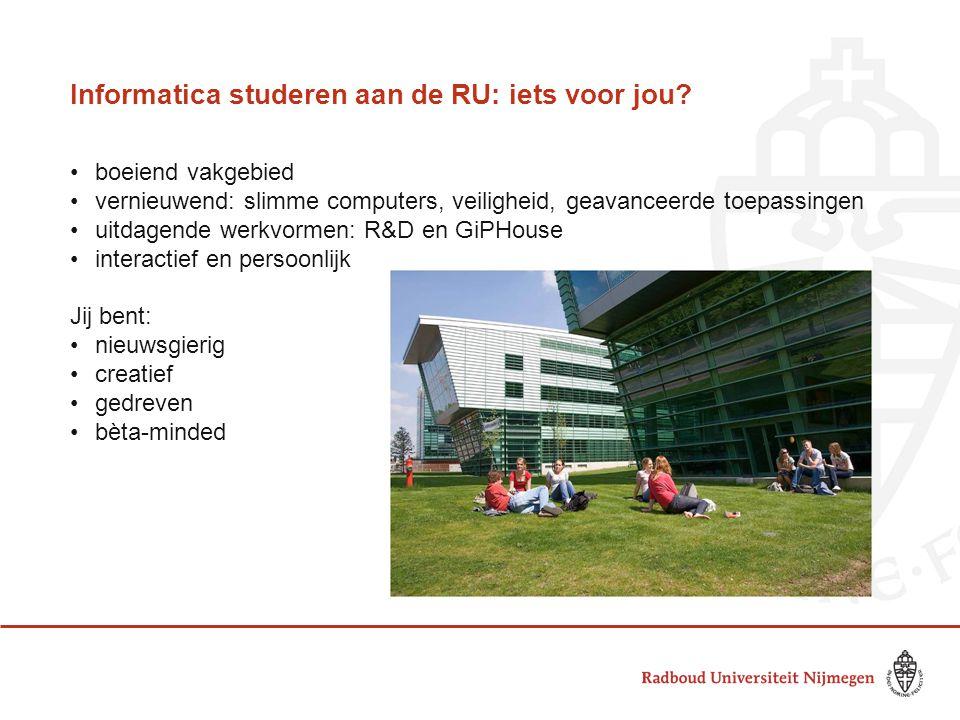 Informatica studeren aan de RU: iets voor jou