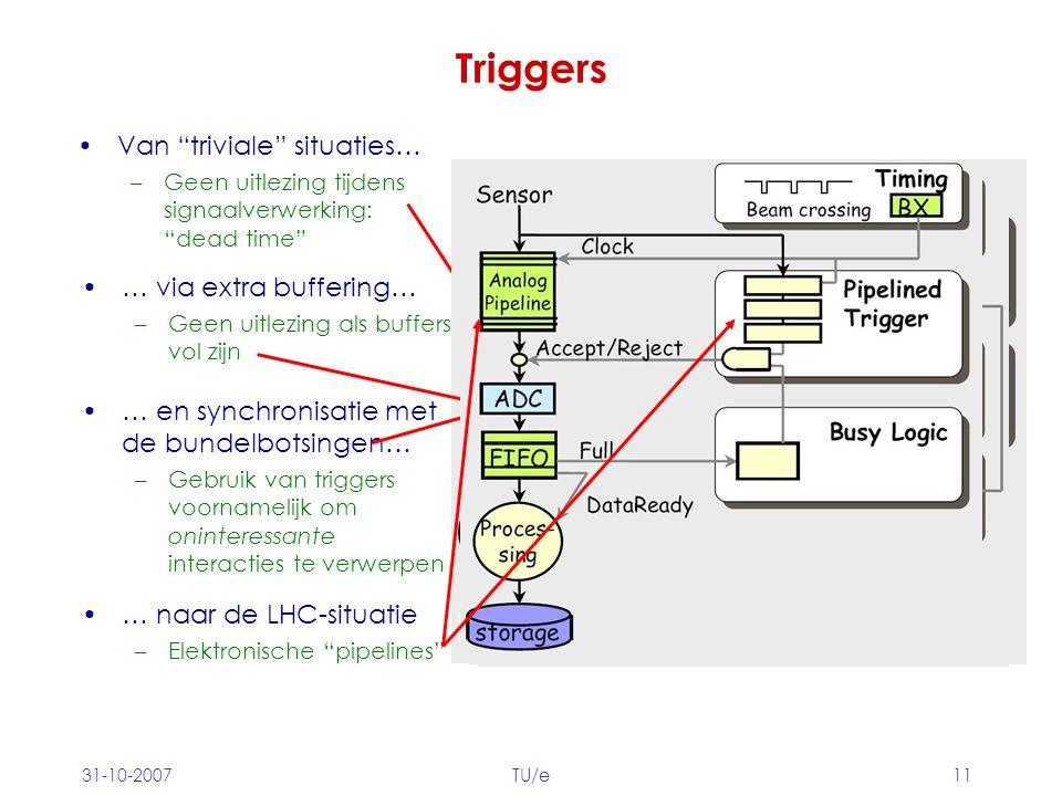 Triggers Van triviale situaties… … via extra buffering…