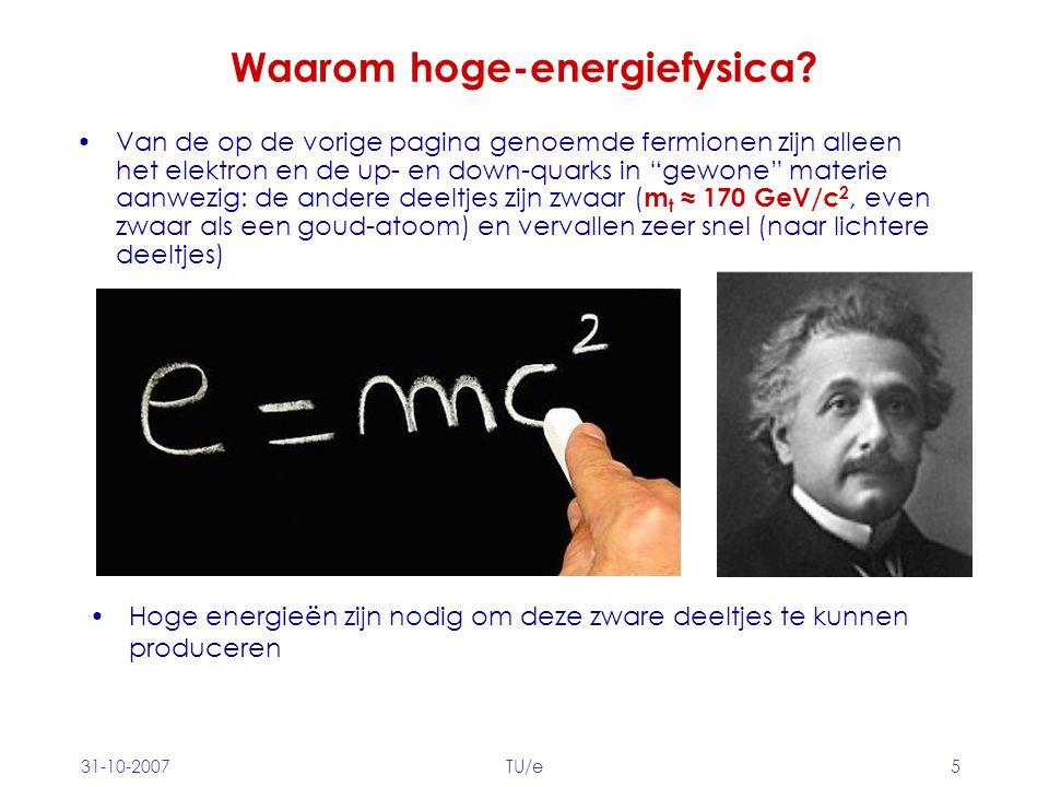 Waarom hoge-energiefysica