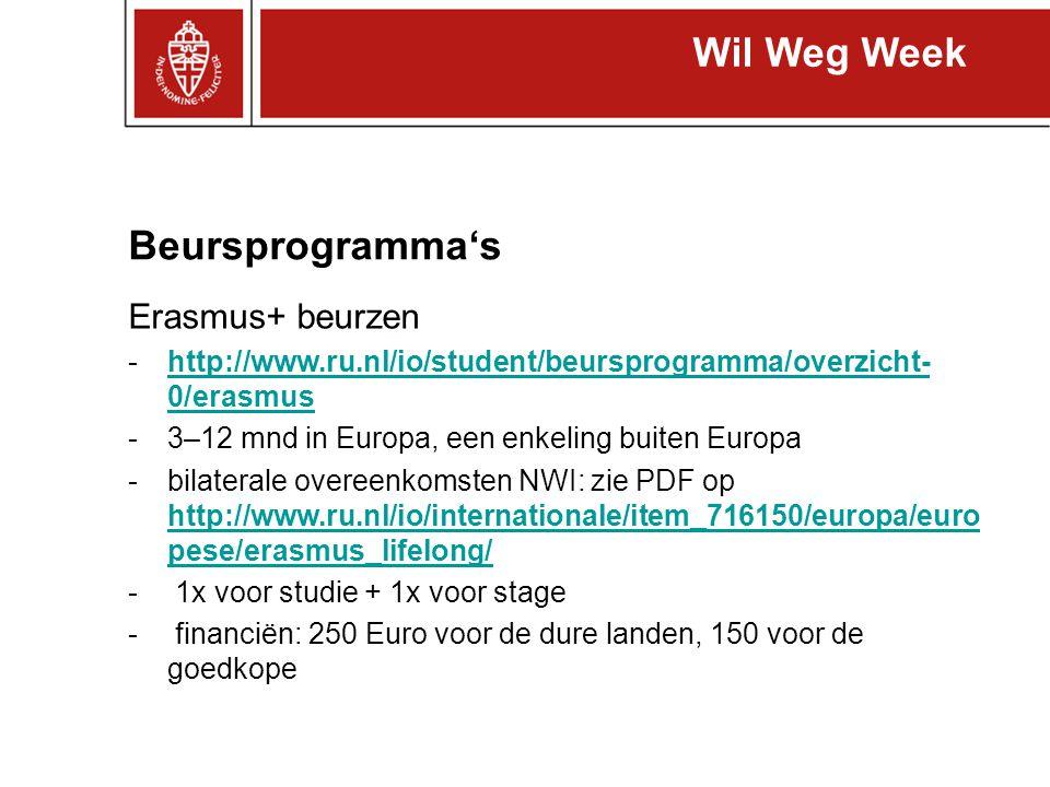 Wil Weg Week Beursprogramma's Erasmus+ beurzen