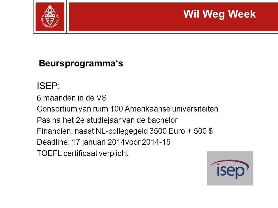 Wil Weg Week Beursprogramma's ISEP: 6 maanden in de VS