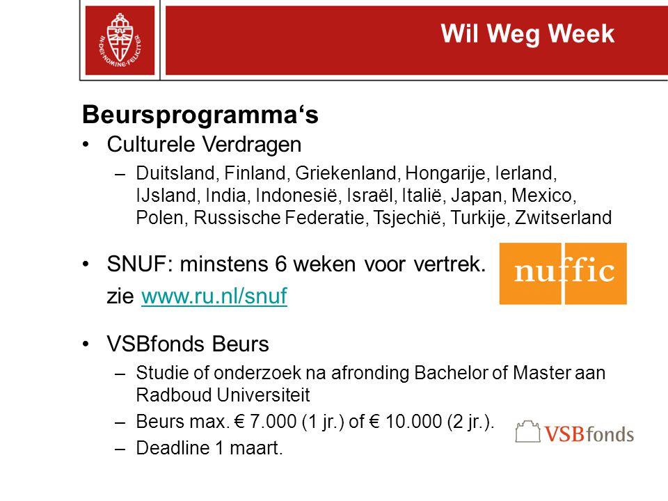 Wil Weg Week Beursprogramma's Culturele Verdragen